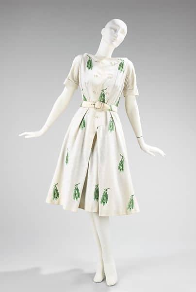vestido anos 50