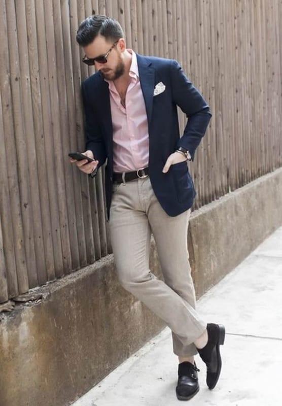 look esporte fino masculino com blazer