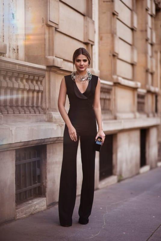 traje passeio feminino com macacao