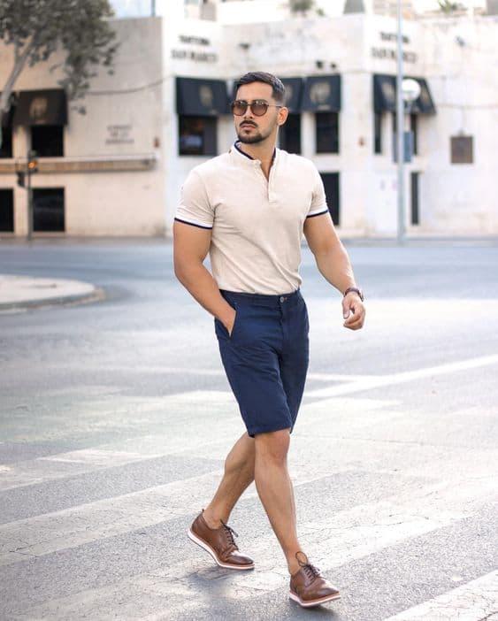 traje esporte masculino com bermuda
