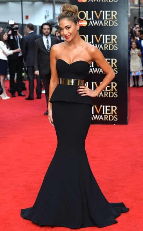 look black tie feminino com vestido preto
