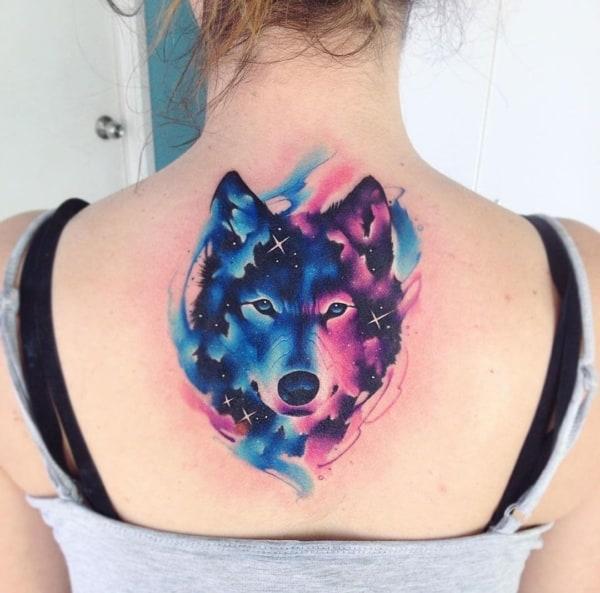tatuagem Universo lobo