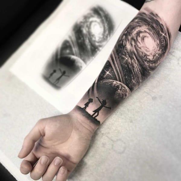tatuagem Universo rick and morty