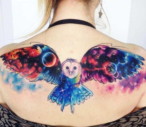 tatuagem coruja Universo