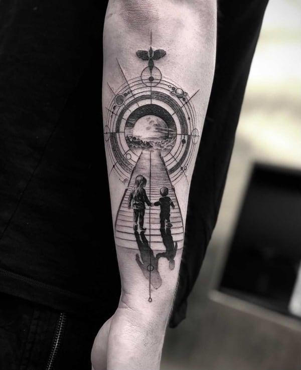 tatuagem homenagem irma nos contra o universo