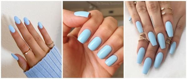 esmalte azul claro bebe