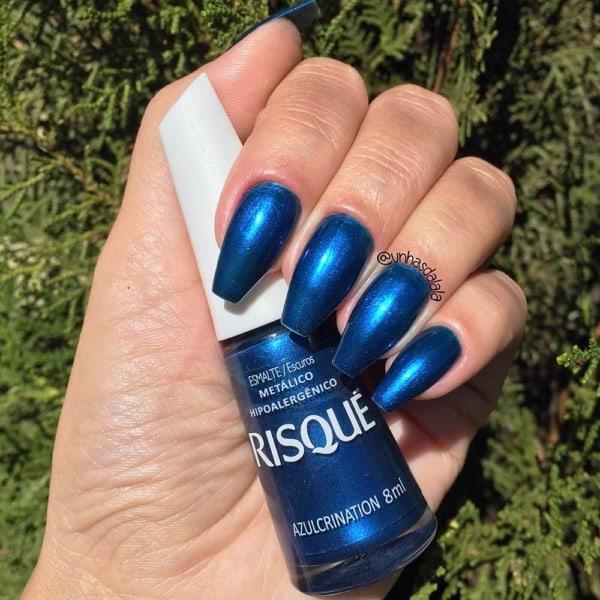 esmalte azul metalico Risque