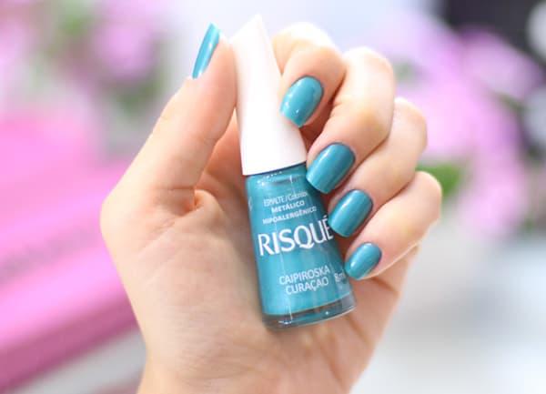 esmalte azul turquesa Risque