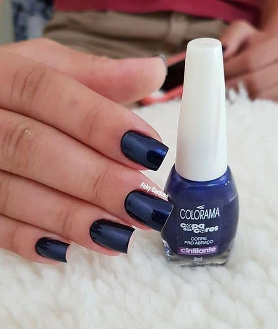 esmalte azul marinho Colorama
