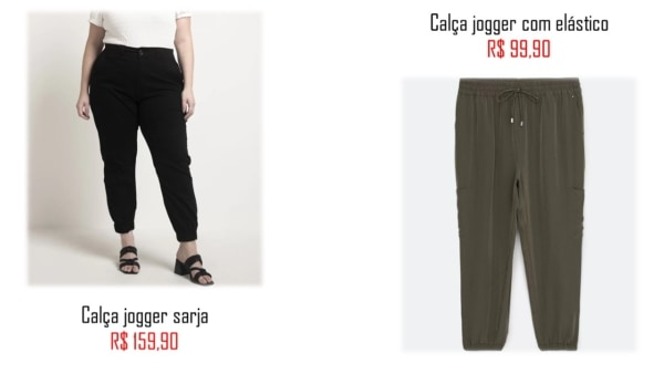 loja para comprar calca jogger plus size