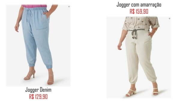 onde comprar calca plus size jogger