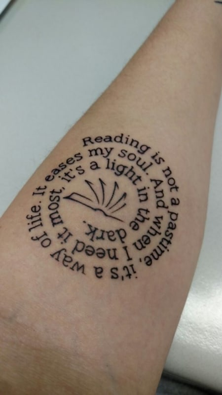 Reading is not a pastime its a way of life It eases my soul And when I need it most its a light in the dark
