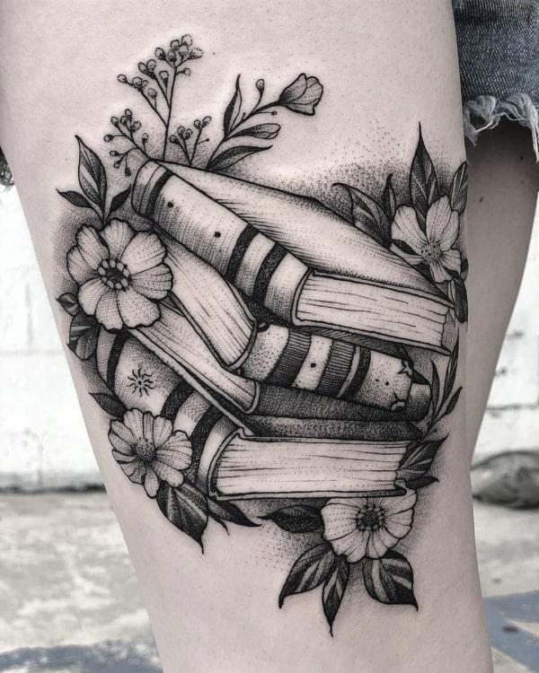 tatuagem pb de livros