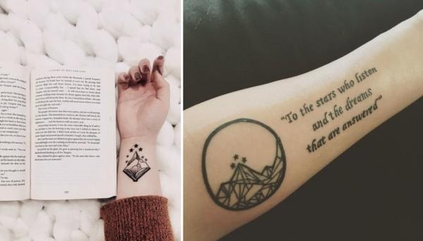 tatuagens literarias inspiradas no livro A Court Of Mist And Fury Sarah J Maas