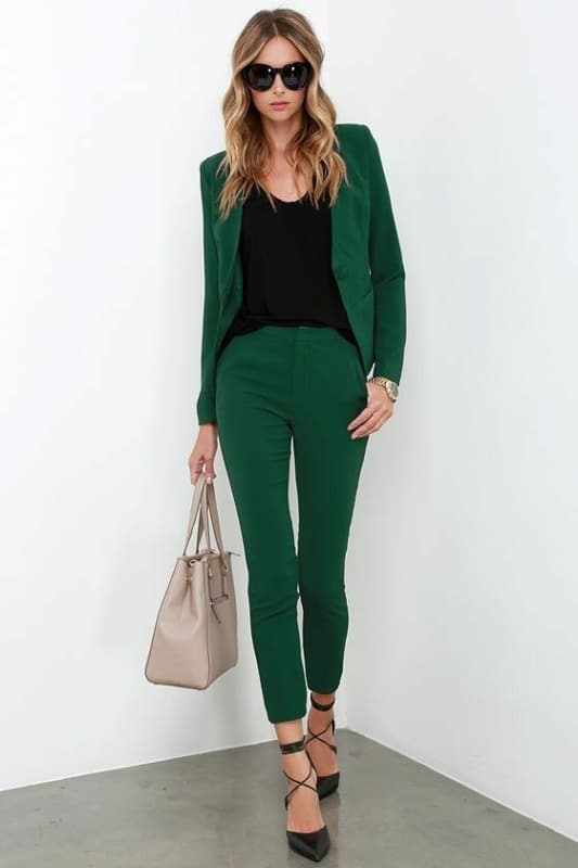 Calca verde esmeralda 68