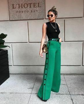 Calca verde esmeralda 69