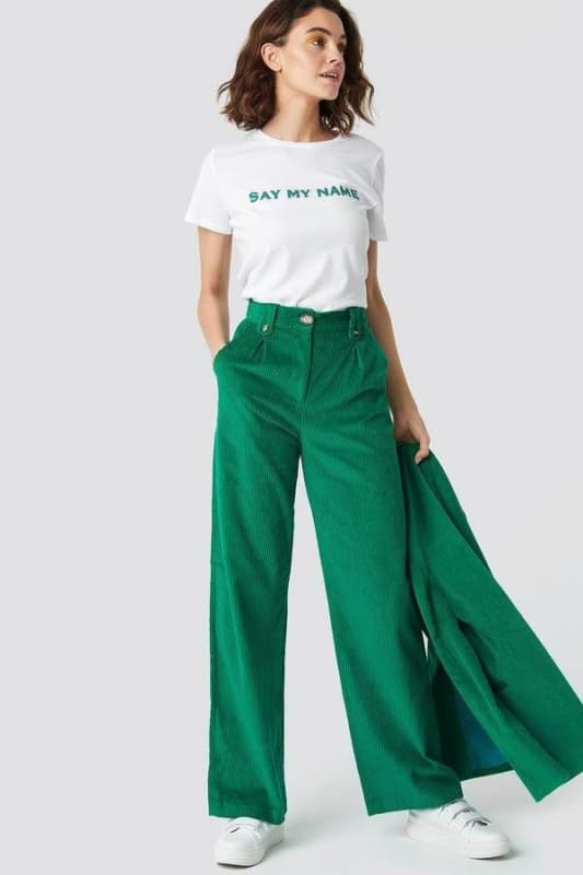 Calca verde esmeralda 77