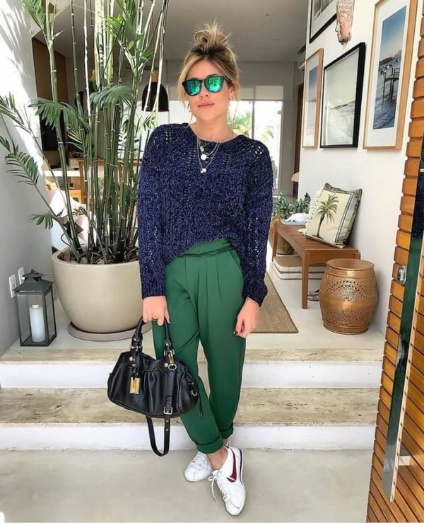 Calca verde esmeralda 80