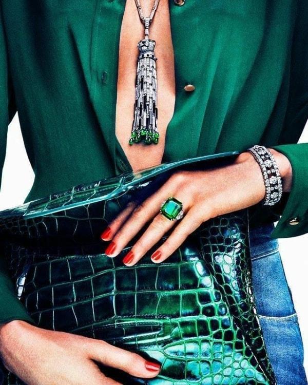 Looks verde esmeralda 47