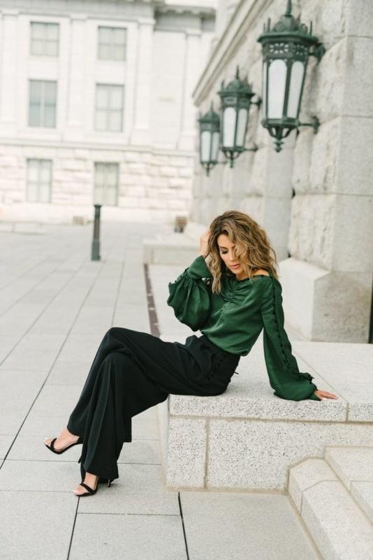 Looks verde esmeralda 49