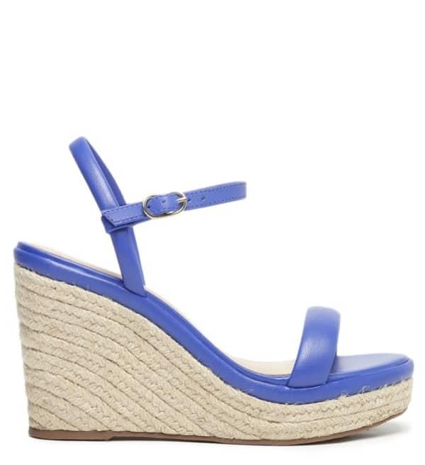 Sandalia anabela azul arezzo 04