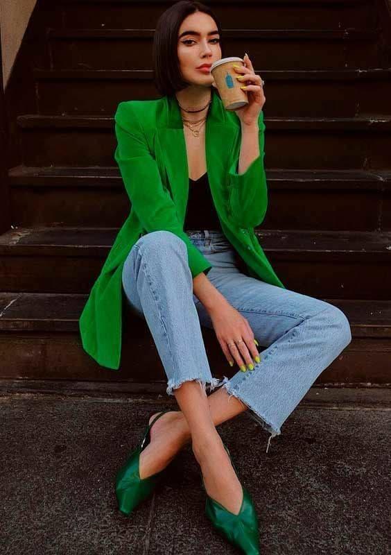 Sapato verde esmeralda 83