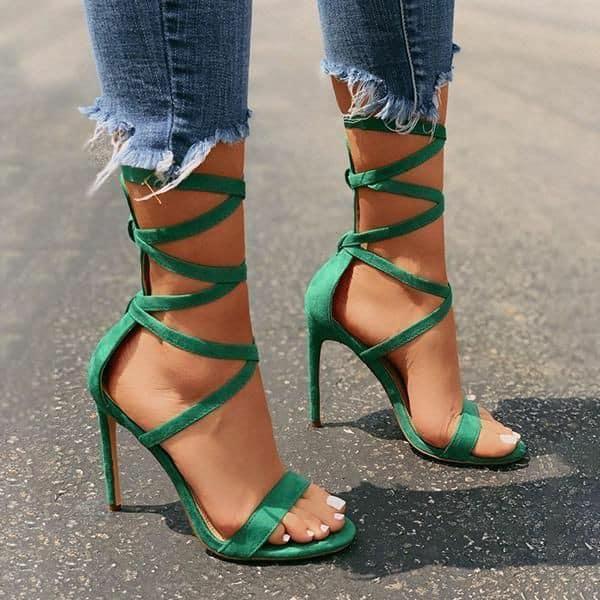 Sapato verde esmeralda 87